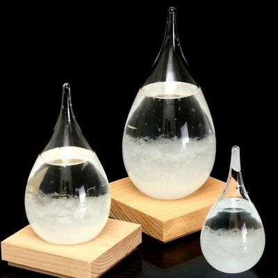 Weather Forecast Crystal Drops Water Shape Glass Bottle Home Decor Gifts Hot