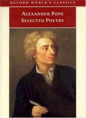 Selected Poetry (Oxford World's Classics) By Alexander Pope. 9780192834942
