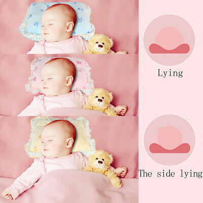 Baby Crib Cot Bed Soft Velvet Pillow Infant Newborn Anti Flat Head Syndrome Cute