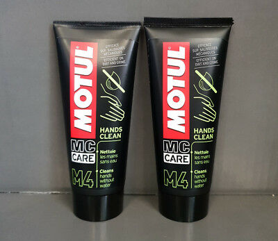 2 x MOTUL 100ml HandsClean M4 Handreiniger #