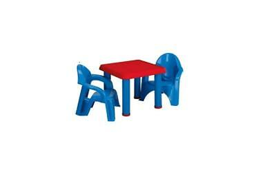 1 SET TABLE & Chairs Plastic DIY Kids Set Play Toddler Activity Fun ...
