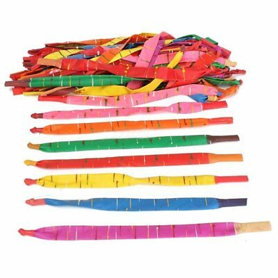 100 x Assorted Colors Long Rocket Balloons with Tube Fillers Fun Toys Kids J1C4