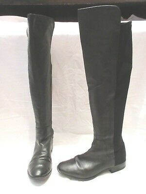 14d29b3a4fc CLARKS CADDY BELLE Black Leather Over Knee Pull On Boots Uk 5.5D Eu 39  (1379)