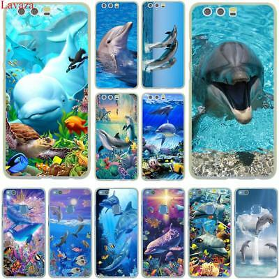 Dolphin Phone Case Cover For Huawei P20 P10 P9 P8 Lite P Smart Mate 10 Lite Pro