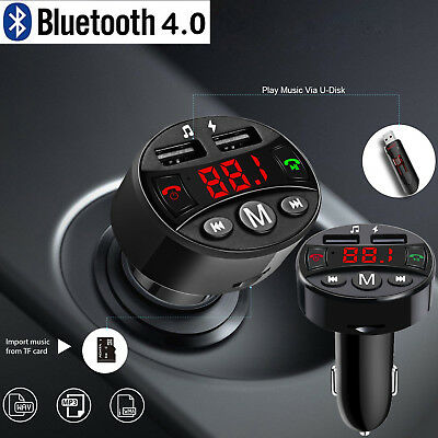 Bluetooth FM Transmitter MP3 Player 2USB Stick KFZ Auto SD AUX Freisprechanlage