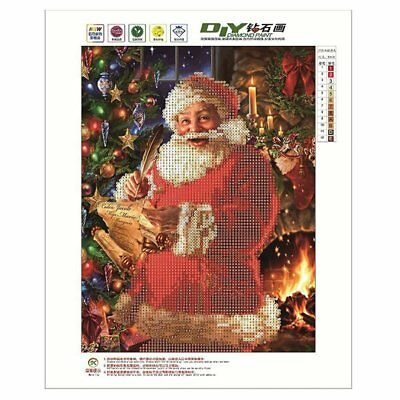 5D Christmas Diamond Embroidery Diamond DIY Painting Santa Claus Cross Stit B5L7
