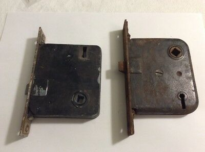 2 Antique Mortise / rim Locks