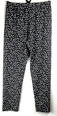 New Ladies Womens Fully Elasticated Waist Summer Floral Trousers Plus Size 12-26