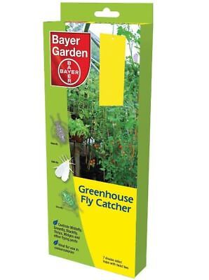 7 Bayer Garden Greenhouse Fly Catchers-Sticky Flying Pests Conservatories Ideal