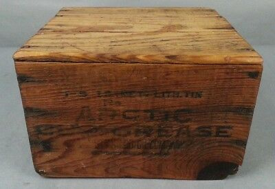 Old Antique Standard Oil Company Arctic Cup Grease Wood Box