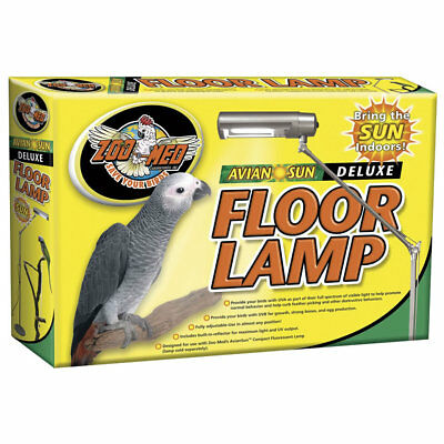 Zoo Med AvianSun Floor Lamp and sun light bulb for birds, parrots