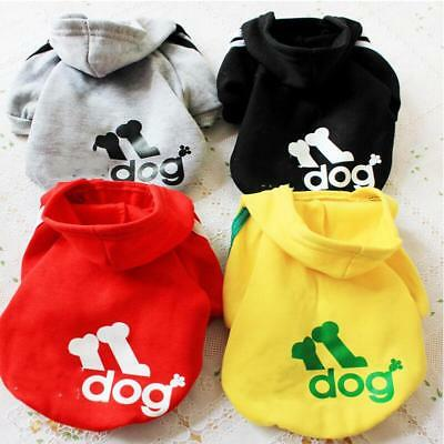 Winter Casual  Pets Dog Clothes Warm Hoodie Coat Jacket Clothing XS--9XL