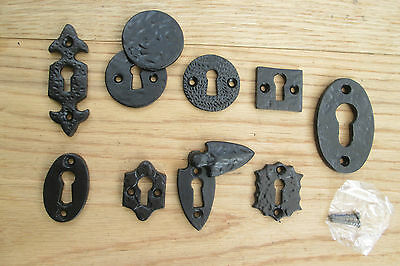 Victorian Vintage Old Style Iron Keyhole Key Hole Covers Escutcheon Covered