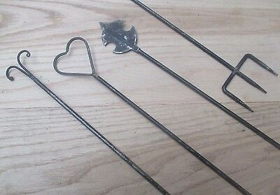 """24"""" Rustic Iron Vintage Old Toasting Folk Fire Side Camping"""
