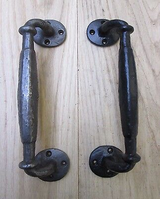 Cast Iron Vintage Victorian Style Rustic Country Barn Door Pull Handles
