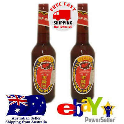 2x Angciu Black Glutinious Rice Red Fermented Rice Cooking Wine Tapai 600ml