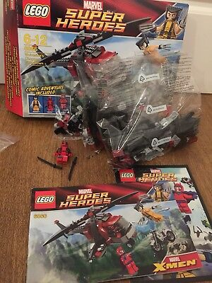 Lego Wolverines Chopper Showdown 6866 Complete Deadpool Magneto