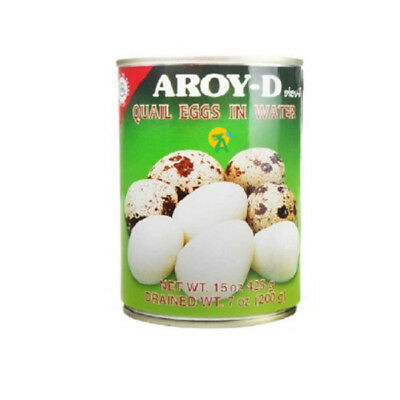 Aroy-D Quail Egg In Water Telur Puyuh Siap Saji 425g