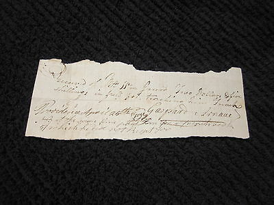 1797 Receipt Payment For Teaching French Dates Document Signatures Location