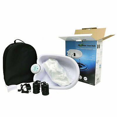 Ionic Detox Foot Bath Cleanse Spa with Basin 100 Liner And Two Round Arrays