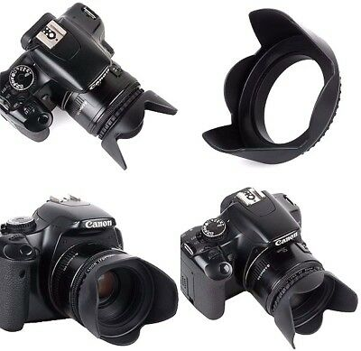 Pro Hard Lens Hood with Collar Clamp For Canon EOS Rebel T7i SL2 77D
