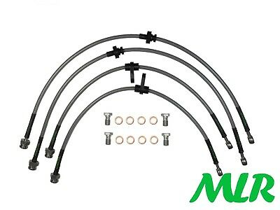 Mg Zr 1.4 1.8 2.0 Rear Disc Stainless Steel Braided Brake Lines Hoses Pipes Bng