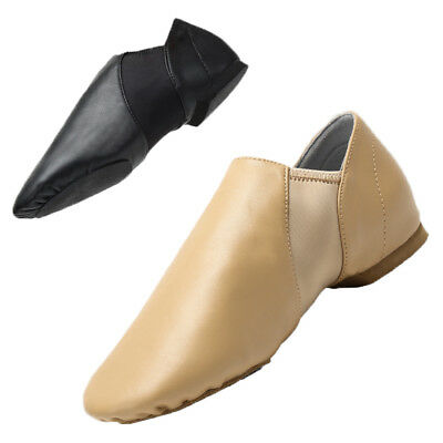 Child & Adult Leather Slip On Jazz Dance Shoes Split-Sole Modern Dance Shoes