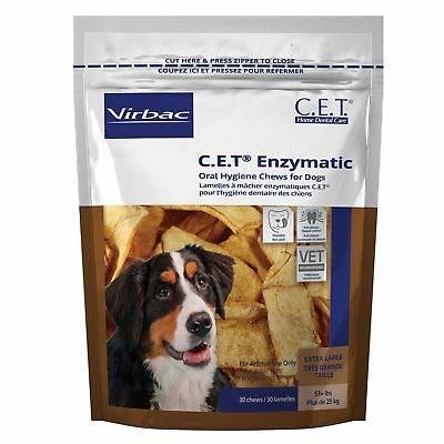 CET Enzymatic Oral Hygiene Chews for XLarge Dogs 51+ Pounds 30ct