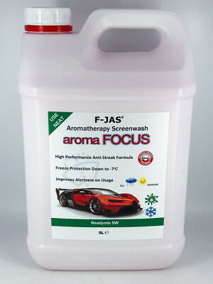 aromaFOCUS Natural Aromatherapy Screen Wash - Helps wake you up as you drive. 5L