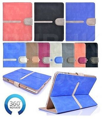 luxury buckle 360 ° Rotating TAN suede Leather Case Cover for ipad