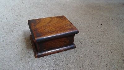 Vintage Wooden Oak Desk Top Box Nice Colour 1930's