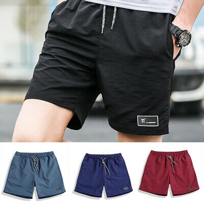 Men Summer Beach Casual Shorts Athletic Gym Sports Training Swimwear Short Pants