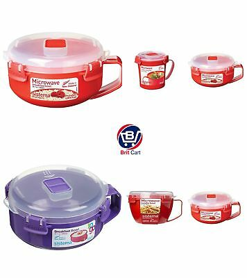 Sistema Microwave/ Freezer Breakfast Lunch Container Bowl Red/Assorted, BPA Free