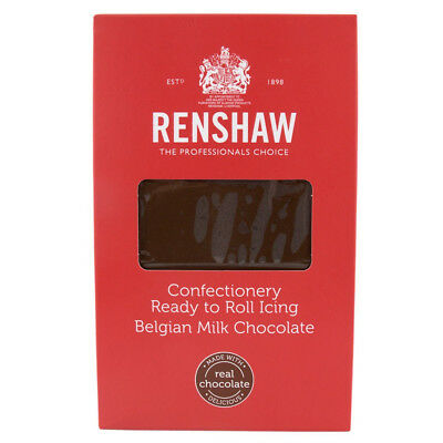 Renshaw Confectionery Ready to Roll Icing BELGIAN MILK CHOCOLATE 1KG Sugarpaste