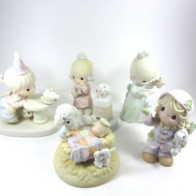 Precious Moments Lot of 5 Figurines 524298 588164 4722 730068 523836