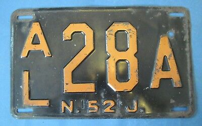 1952 New Jersey License Plate
