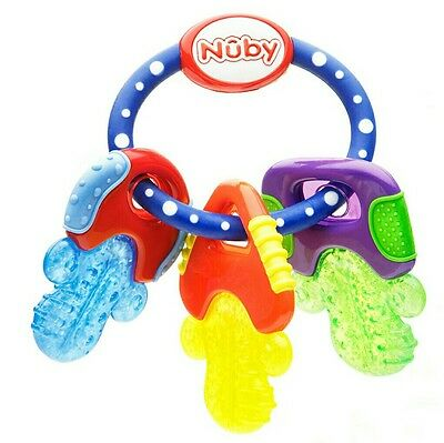 Nuby Icy Bite Keys baby teething ring teether BNIB