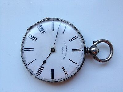 Antique Key-Set Gouvernon Preres Geneve Pocket Watch For Spares Or Repairs