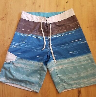 e2a76e1355 O'NEILL BLACK/BLUE BOARD Shorts Swim Trunks Size 34 New W/o Tags Nos ...