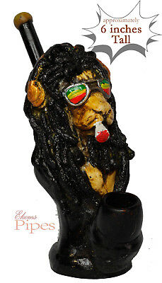Cool Lion Crafted  Figurine Smoking Pipe Tobacco medium Pot