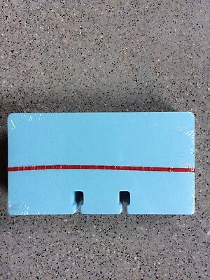 """100 Rolodex Refill Cards Blue 2 1/4"""" x 4"""" New Sealed C24 Genuine"""