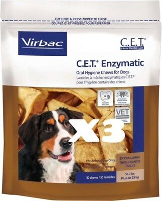 CET Enzymatic Oral Hygiene Chews for XLarge Dogs 51+ Pounds 90ct
