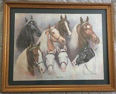 """Billie Nipper Signed Print """"FOREVER TO BE""""  Tennessee Walking Horse"""