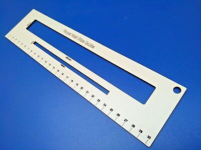 White Color Royal Mail  PPI Letter Size Guide Package Ruler Office Template