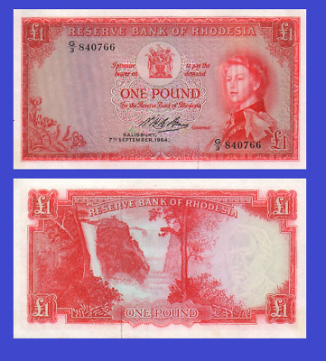 Rhodesia 1 pound 1964 UNC - Reproduction