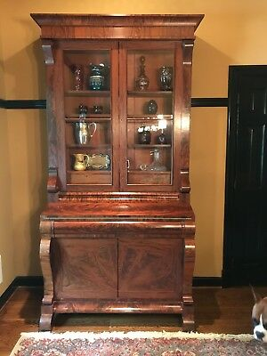 Grand Mahogany Empire Secretary Circa 1830, Great Condition