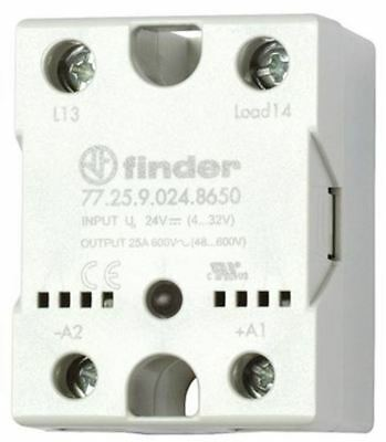 Finder 40 A SPNO Solid State Relay, Zero Crossing, Heatsink, 280 V ac Maximum Lo