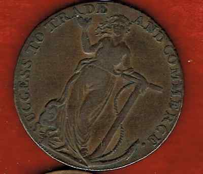 Braintree And Bocking Half Penny 1794.. Success To Trade&commerce
