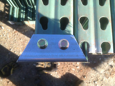 Bolt on style tear drop pallet racking replacement feet new feet repair parts