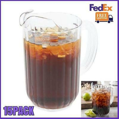 15 PACK 48 oz. Clear Plastic Beverage Pitcher Us FedEx Free Shipping